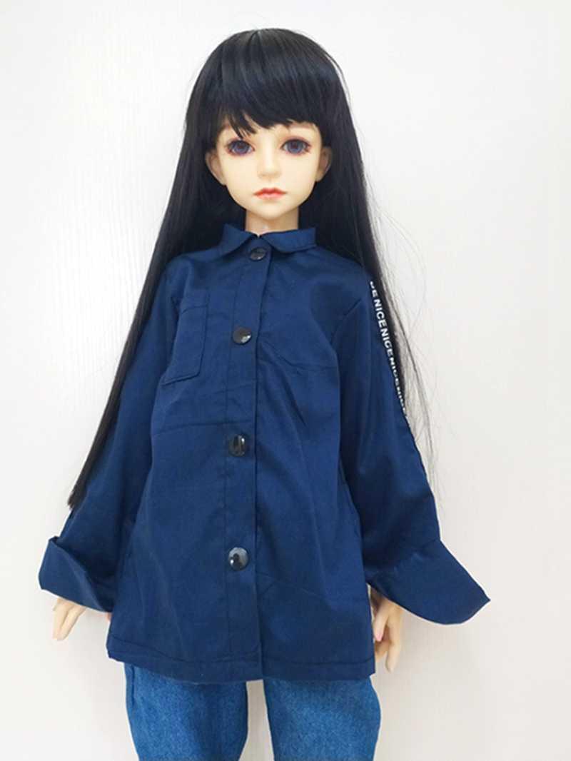 Длинная рубашка 1/3 1/4 1/6 Одежда для кукол крутая модная игрушка для детей Детские игрушки белые BJD SD куклы аксессуары подарки синий