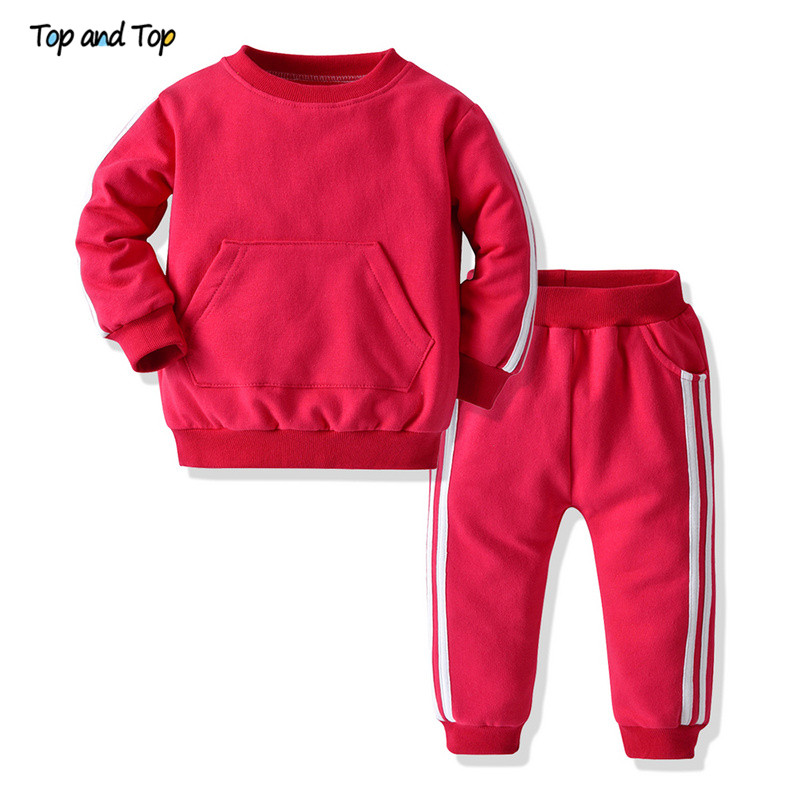Pullover Pants Tracksuit Sweatshirt Striped-Clothing-Sets Bebes Baby Casual Boys Autmn--Winter