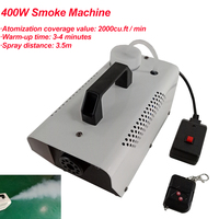 2020 New Remote Control 400W Smoke Machine Fog Machine Professional Smoke Ejector / Stage Party DJ Equipment / LED Fogger