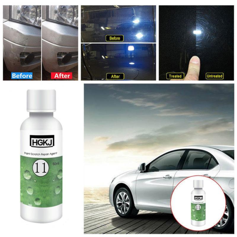 HGKJ-11 50ml Car Polish Paint Scratch Repair Agent Polishing Wax Paint Scratch Repair Remover Paint Care Maintenance TSLM1
