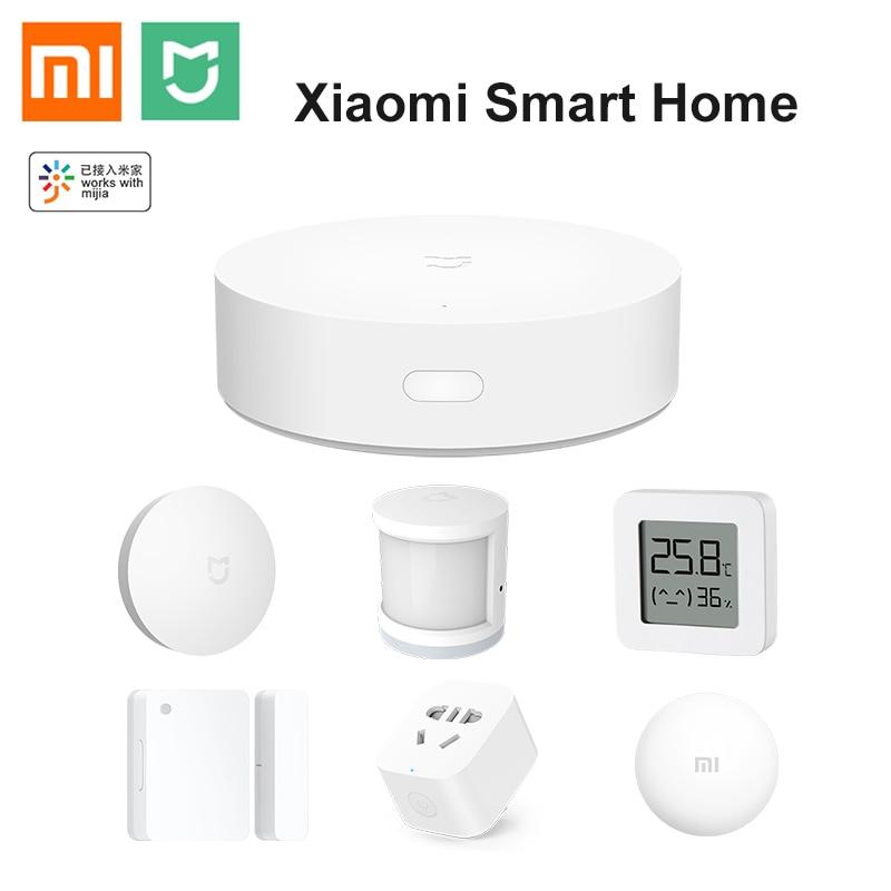 Набор для умного дома Xiaomi Mi Mijia Gateway V3 Zigbee, датчик для окон и дверей, датчик человеческого тела, датчик утечки воды, работает с Mi Home