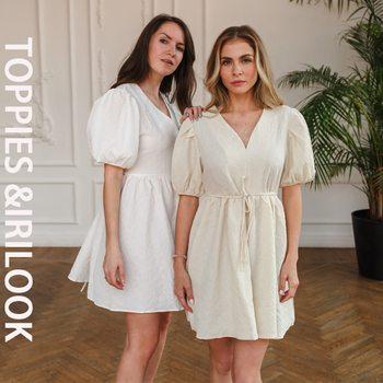 Toppies Summer Dress Woman Vintage Puff Sleeve A Line Dresses V-Neck High Waist Mini Dress Green Sexy Grain Dress 2021 1
