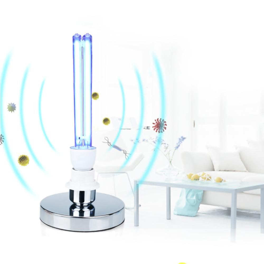 E27 UVC Ultraviolet UV Light Tube Bulb 15W/20W Disinfection Lamp Ozone Sterilization Mites Lights Germicidal Lamp Bulb AC220V