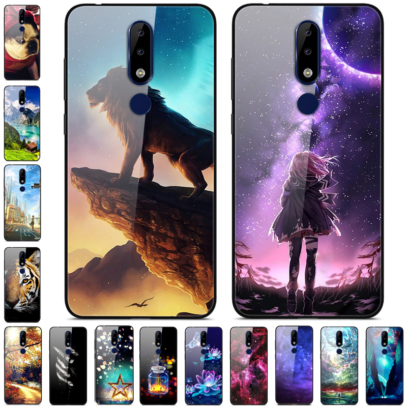 For <font><b>Nokia</b></font> X5 <font><b>Case</b></font> Tempered Glass Hard Back cover For <font><b>Nokia</b></font> <font><b>5.1</b></font> Plus <font><b>Case</b></font> NokiaX5 Cover 5.1Plus X 5 <font><b>Phone</b></font> <font><b>Cases</b></font> Soft Bumper New image