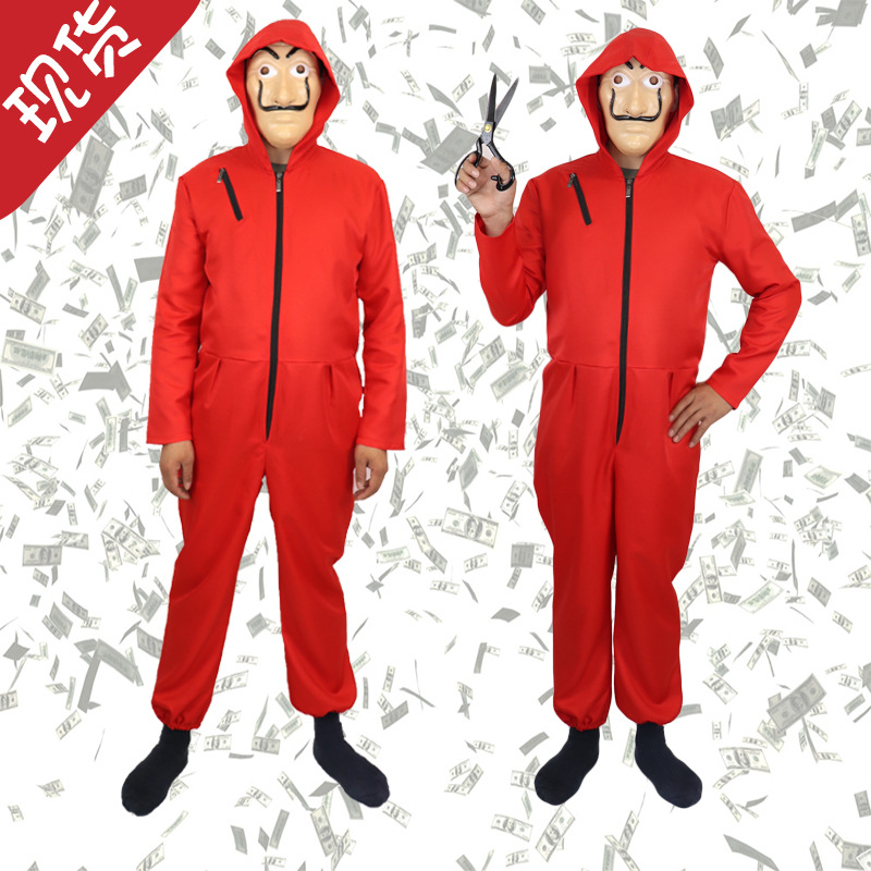 Halloween Paper Sha Wu Dali Red Onesie Clown Suit Cosplay Wholesale Currently Available