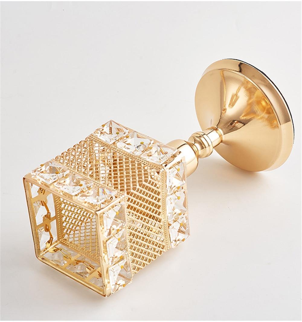 Metalni držač za svijeće Kristali za svijeće Stalak za vjenčanje - Kućni dekor - Foto 5