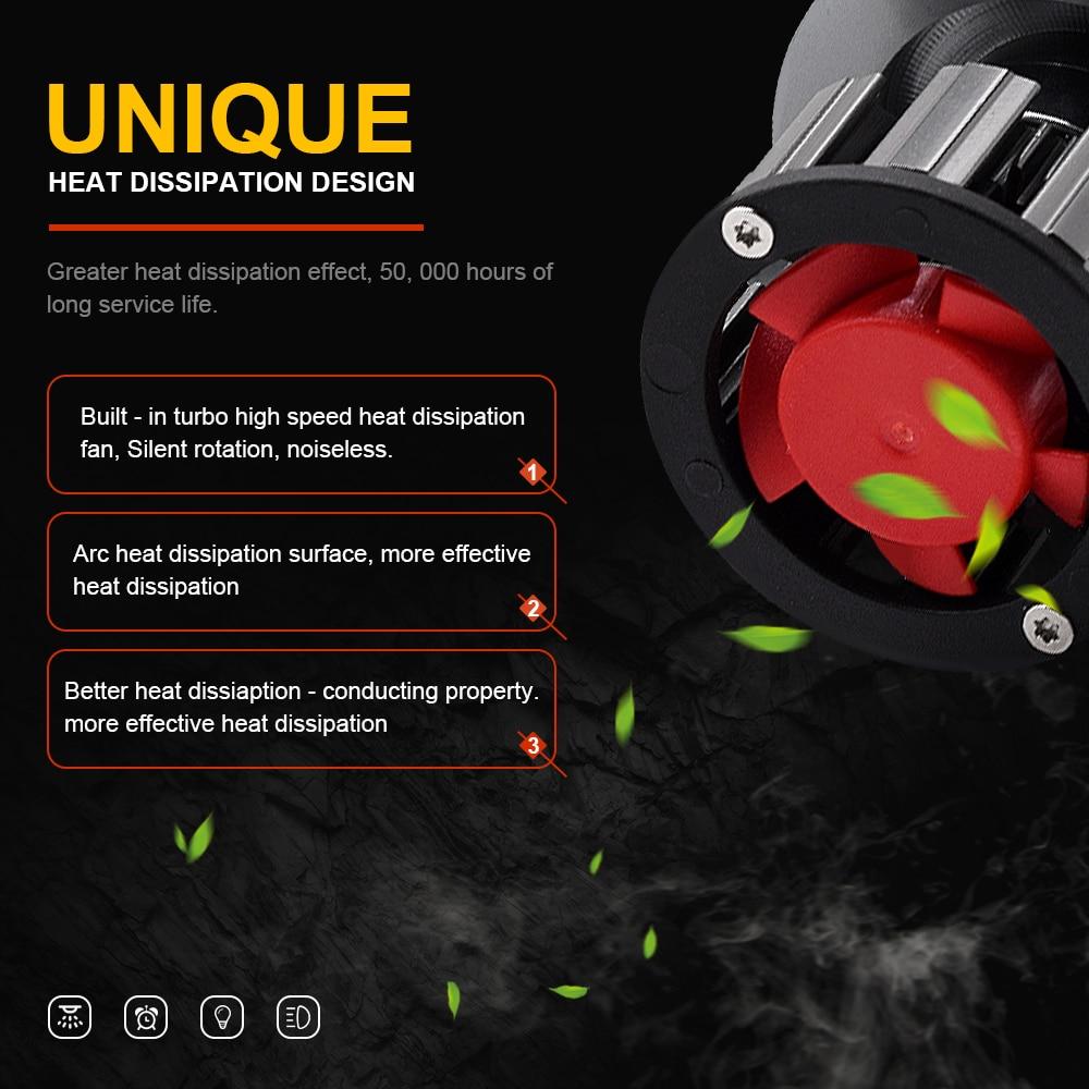2 pièces APPLICATION Bluetooth Contrôle RVB Voiture phare LED Couleur Changeante Lumière H1 H3 H8 H9 H11 9005 9006 Lampe Frontale automatique H4 LED H7 Ampoules - 5