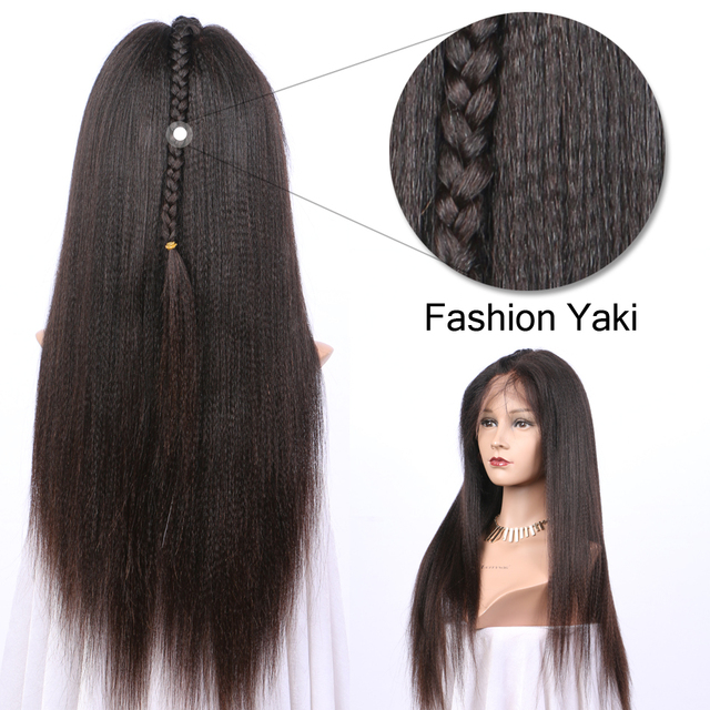 Yaki Straight 5x4.5 Silk Base Wigs PrePlucked Remy Peruvian Lace Front Human Hair Wigs With Baby Hair Glueless LUFFY 5