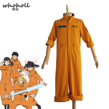 Anime Fire Force Cosplay Costume Shinra Kusakabe Jumpsuit Maki Oze Yellow Uniform Enen No Shouboutai Women Men