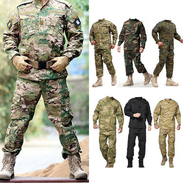 Men Military Uniform Airsoft Camouflage Tactical Suit Camping Army Special Forces Combat Jcckets Pants Militar Soldier Clothes 5