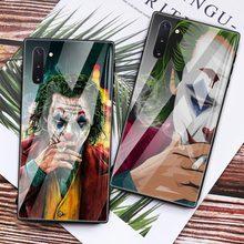 Joker 2019 Clown Heros Glass Case For Samsung Galaxy S20 S10 5G S10e S9 S8 Plus Note 10 9 8 Tempered Phone Coque Fundas