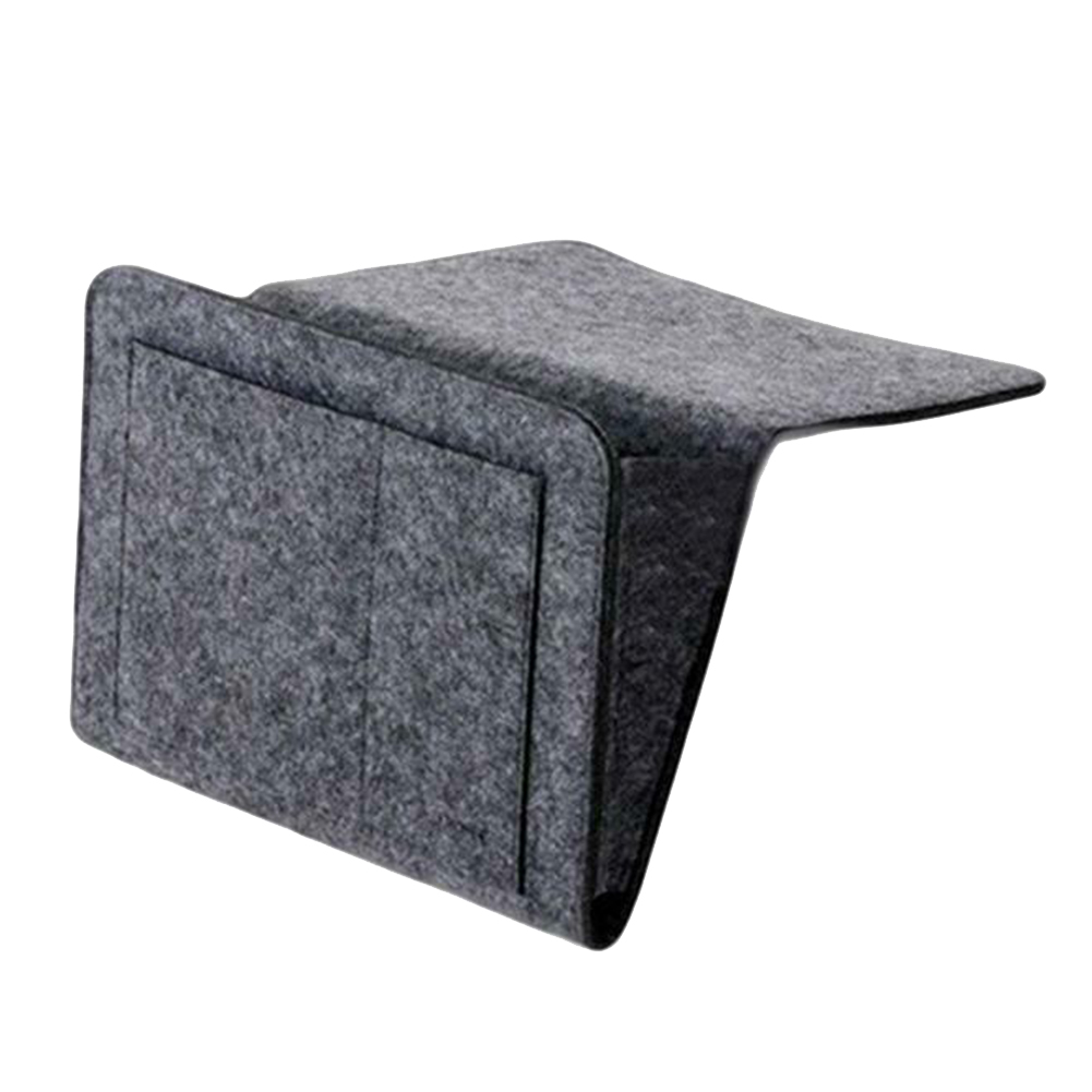 Bedside Felt Storage Bag with <font><b>Pockets</b></font> Bed <font><b>Sofa</b></font> Desk Hanging Organizer <font><b>for</b></font> Phone Magazines Tablets <font><b>Remotes</b></font> E2S image