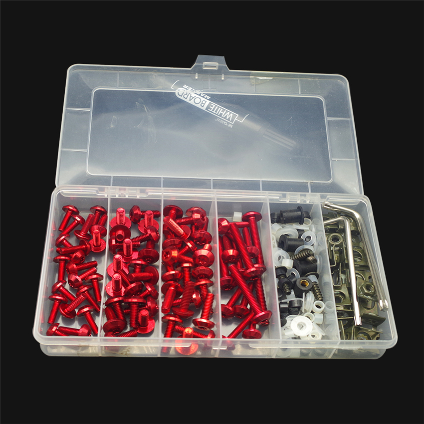 Motorcycle Fairing Screws Bolts Nuts Kit Body Mount Windshiled Fasteners Clips FOR <font><b>cbr</b></font> <font><b>1000</b></font> <font><b>rr</b></font> <font><b>2007</b></font> ducati panigale v4 aprilia image