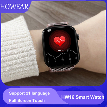 Original HW16 44mm Smart Watch Series6 Men 320*385 Screen Custom Picture Smartwatch Women BluetoothCall 2021 pk FK88 IWO13 W46 1
