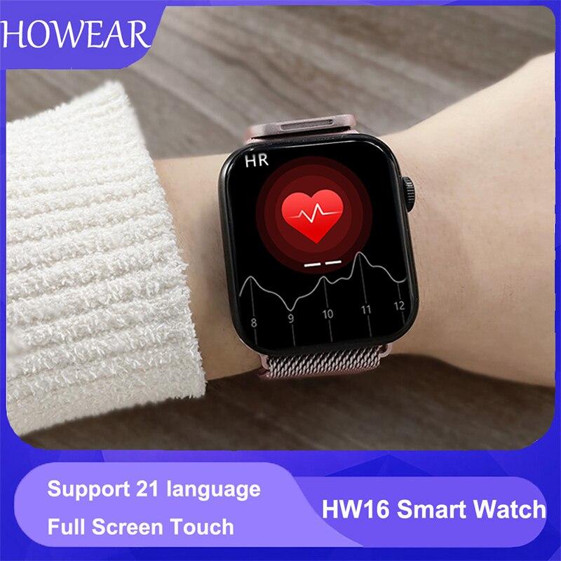 Original HW16 44mm Smart Watch Series6 Men 320 385 Screen Custom Picture Smartwatch Women BluetoothCall 2021 Innrech Market.com
