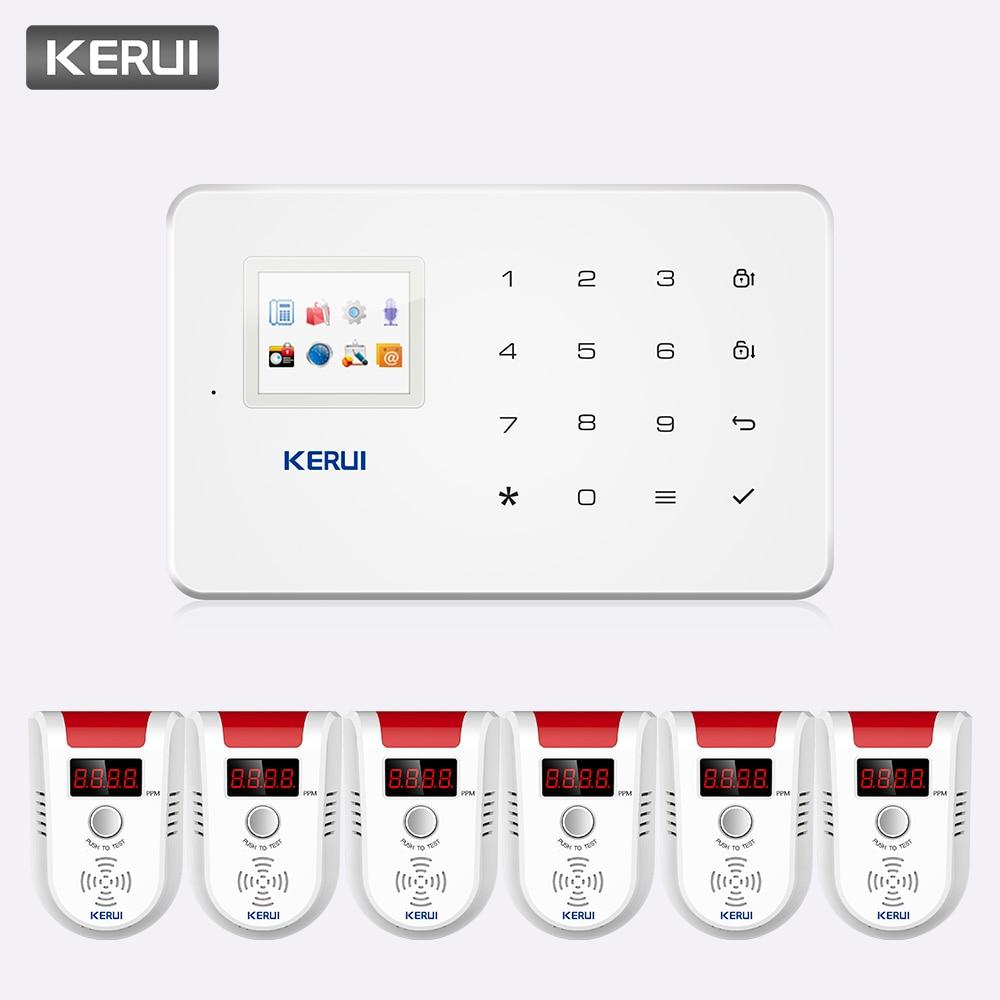 KERUI G18 1.7 inch Color screen 433MHZ Wireless GSM Alarm System Home Security Surveillance APP Remote Control Alarm System