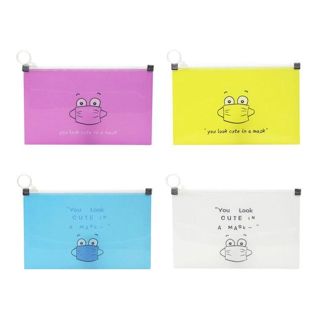 1/4/8 pcs Masks Cover Bag Portable Disposable Mask Storage Bag Facemask Holder Face Mask Organizer Box Cartoon Case Mask Boxes