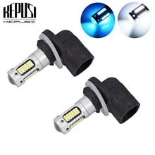 цена на 2x High Power White 30-SMD 4014 881 H27 LED Replacement Bulbs For Car Fog Lights,ca DRL Lamps,12V Car led,Ice Blue H27W/2