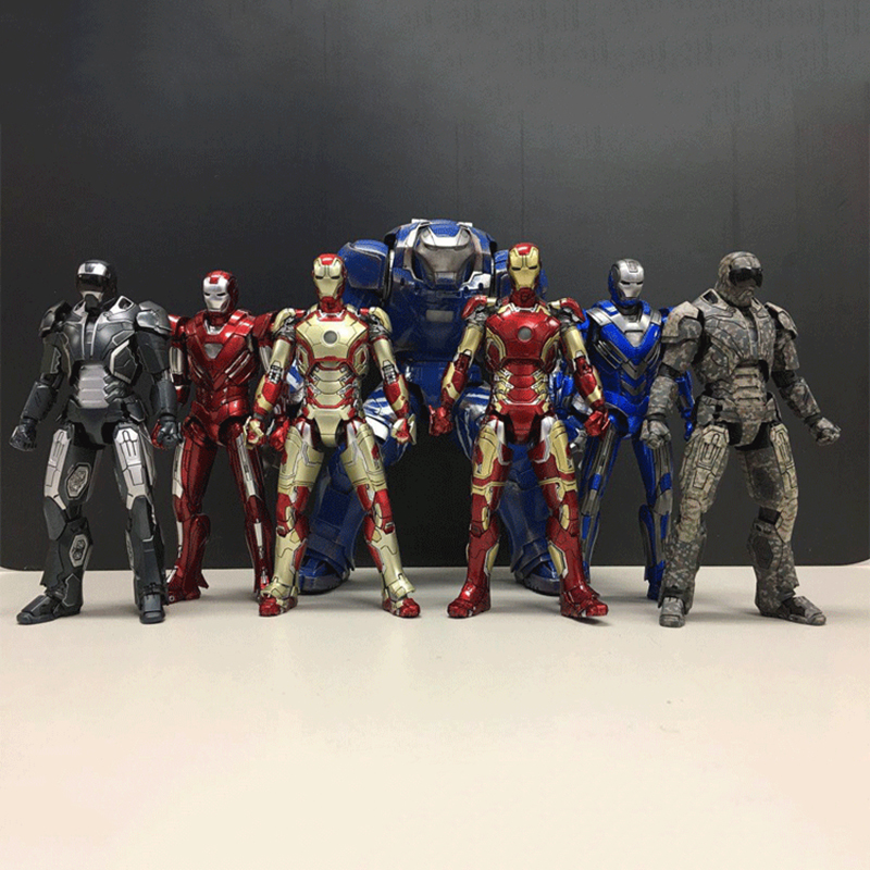 DHL Shipping Comicave Avengers Metal Iron Man MK25 Striker MK26 Gamma PVC Action Figure MK30 MK33 MK42 MK43 MK7 MK38 Model Toys