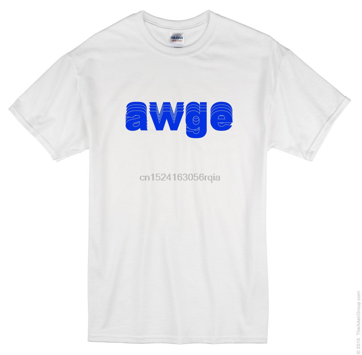 New Awge Blue Logo Not Or Nothing 2020 T Shirt White T Shirt Front Only image