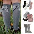 2020 Baby Girls Socks New Toddlers Girl Big Bow Knee High Long Soft Kids Socks Bowknot 100% Cotton 0-3 Years Newborn Socks