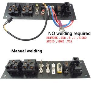 Image 4 - Liga de alumínio multimídia, usb vga, rede hdmi, interface uk/eu/us/cn tomada elétrica placa de energia china plug adaptador