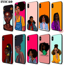 IYICAO Black Girl Magic Melanin Soft Silicone Case for iPhone 11 Pro Xr Xs Max X or 10 8 7 6 6S Plus 5 5S SE