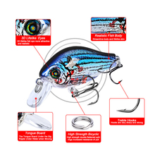 цена 1pcs Mini 52mm 8.5g Crankbait Fishing Lure Artificial Hard Bait Bass Fish Wobblers Japan Topwater Minnow Fishing Tackle онлайн в 2017 году