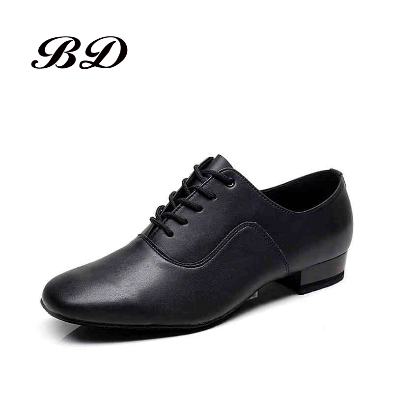 Latin Shoes BD Dance Shoes For Men Boy Ballroom Durable Wear Social Dance Genuine Leather Sole Jazz Non-slip Free BAG Oxford 301