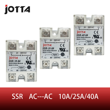 SSR -10AA  25AA 40AA  AC control AC SSR white shell Single phase Solid state relay ssr 10da 25da 40da dc control ac ssr white shell single phase solid state relay without plastic cover