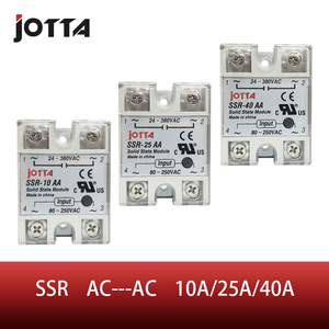 SSR -10AA 25AA 40AA AC control AC SSR white shell Single phase Solid state relay(China)