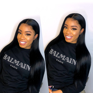 Image 5 - Sapphire 4x4 Lace Closure Wig Straight Brazilian Lace Front Human Hair Wigs Pre  Plucked  Remy Lace Frontal Closure Wig
