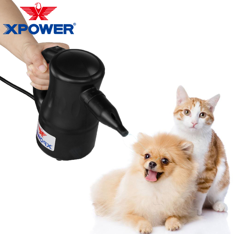 Xpower Portable Dog Cat Dryer Pet Hair Dryer Recharge Pet Cat Hair Black Blower Low Noise Multifunction Dust and clean computers