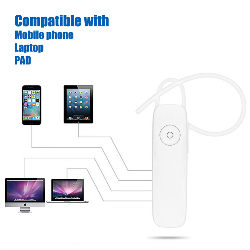 M165 Mini Bluetooth Earphone Stereo Bass Bluetooth Headset Handsfree Earloop Wireless Earpiece With Mic For All Smart Phones