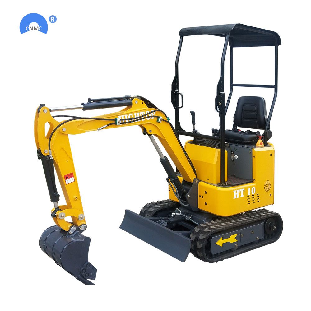 Chineses Mini Excavator 1ton Micro Small Digger With Rubber Track For Garden Construction