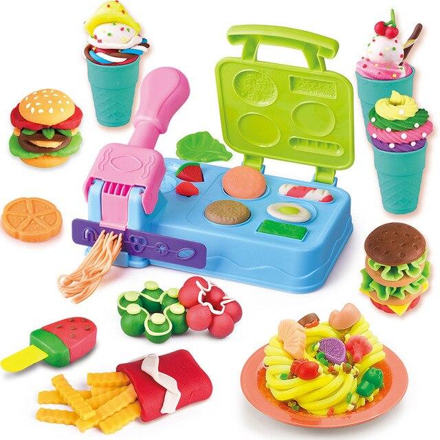 DIY Playdough Clay Deeg Plasticine slime Ijs Machine Mal Play Kit DIY Speelgoed Handgemaakte Noodle Maker Keuken Speelgoed Kinderen gift