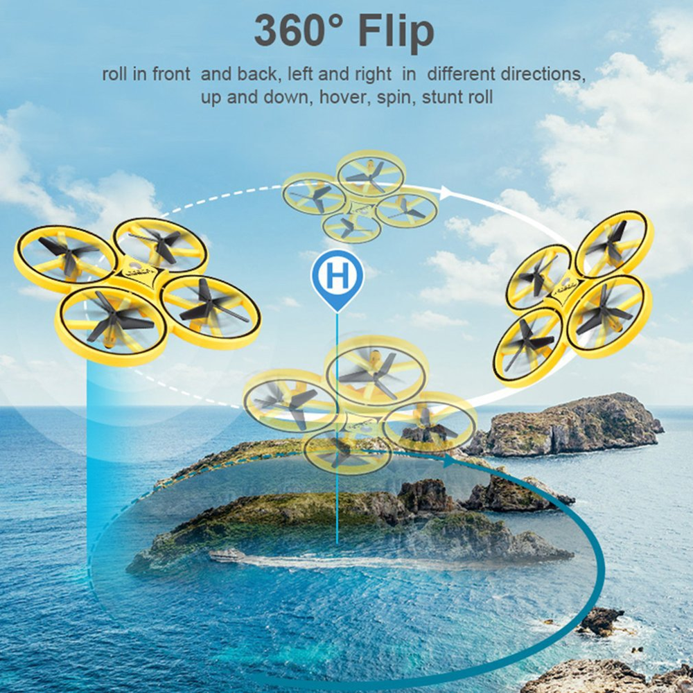 Mini Gravity Sensor Remote Control Watch RC Drone Quadcopter Hand Induction Altitude Hold Infrared Obstacle Avoidance 2.4G Toys