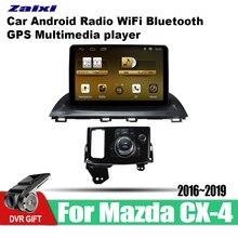 ZaiXi Android Car 2 din multimedia GPS Navigation For Mazda CX-4 2016~2019 vedio stereo Radio audio wifi video map