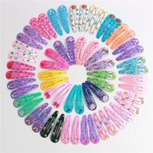 20Pcs/Lot Hair Accessories Candy Color Dripping Hair Clip Princess Barrette Korean Hairclip Cartoon Headdress Hairpins for Girls