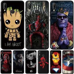 Fajne Avengers Groot dla Huawei P20 P30 Mate 10 20 Honor 8X 8C 8 9 10 20 Lite 7A Pro widok V20 skrzynki pokrywa Coque Etui Funda