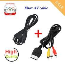 Câble AV et cordon d'alimentation d'origine pour Sega Dreamcast/PS1/PS2, 1.8M, Audio-vidéo, XBOX