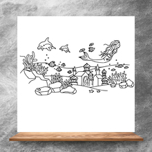 ZhuoAng Undersea city Clear Stamps/Silicone Transparent Seals for DIY scrapbooking photo album Clear Stamps