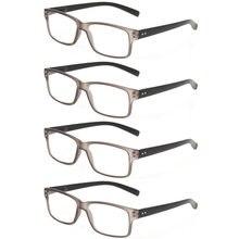 Очки для чтения 4 упаковки модные мужские и женские цветные