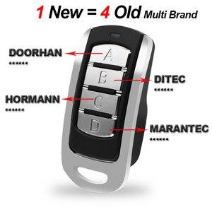 Image 2 - 2pcs Gate Remote Control garage Multi Frequency Duplicate 300 900mhz Command Handzender Garage Door Opener keychain