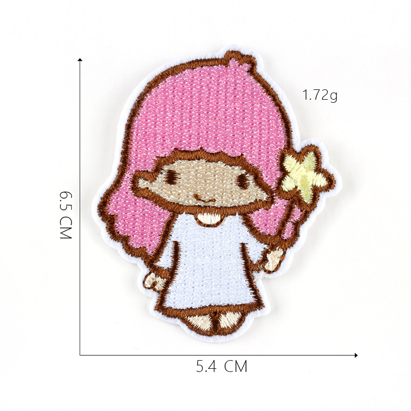 XUNHUI Cartoon Angel Patches for Kids Clothes DIY Moon Appliques Clothing Stickers Embroidery Star Badges 1 Piece
