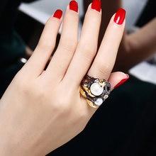 Женское Винтажное кольцо с натуральным жемчугом и фианитом
