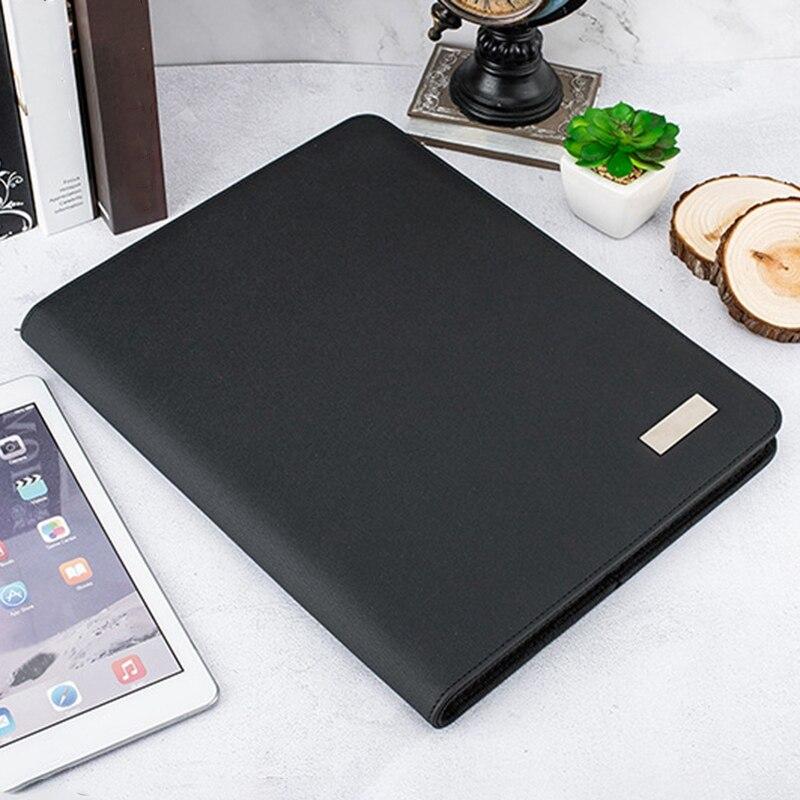 A4 taille voyage cahier Composition livre Business Manager sac dossier avec chargeur d'alimentation sans fil support de sac Mobile - 3