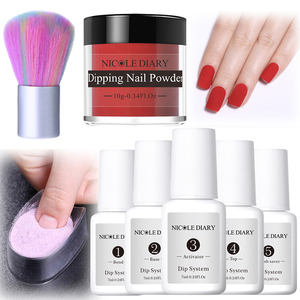 8Pcs/set Matte Dipping Nail Glitter Powder Kits Pink Gradient French Chrome Pigment Natural Fast Dry Without Lamp Cure 6/4pcs(China)