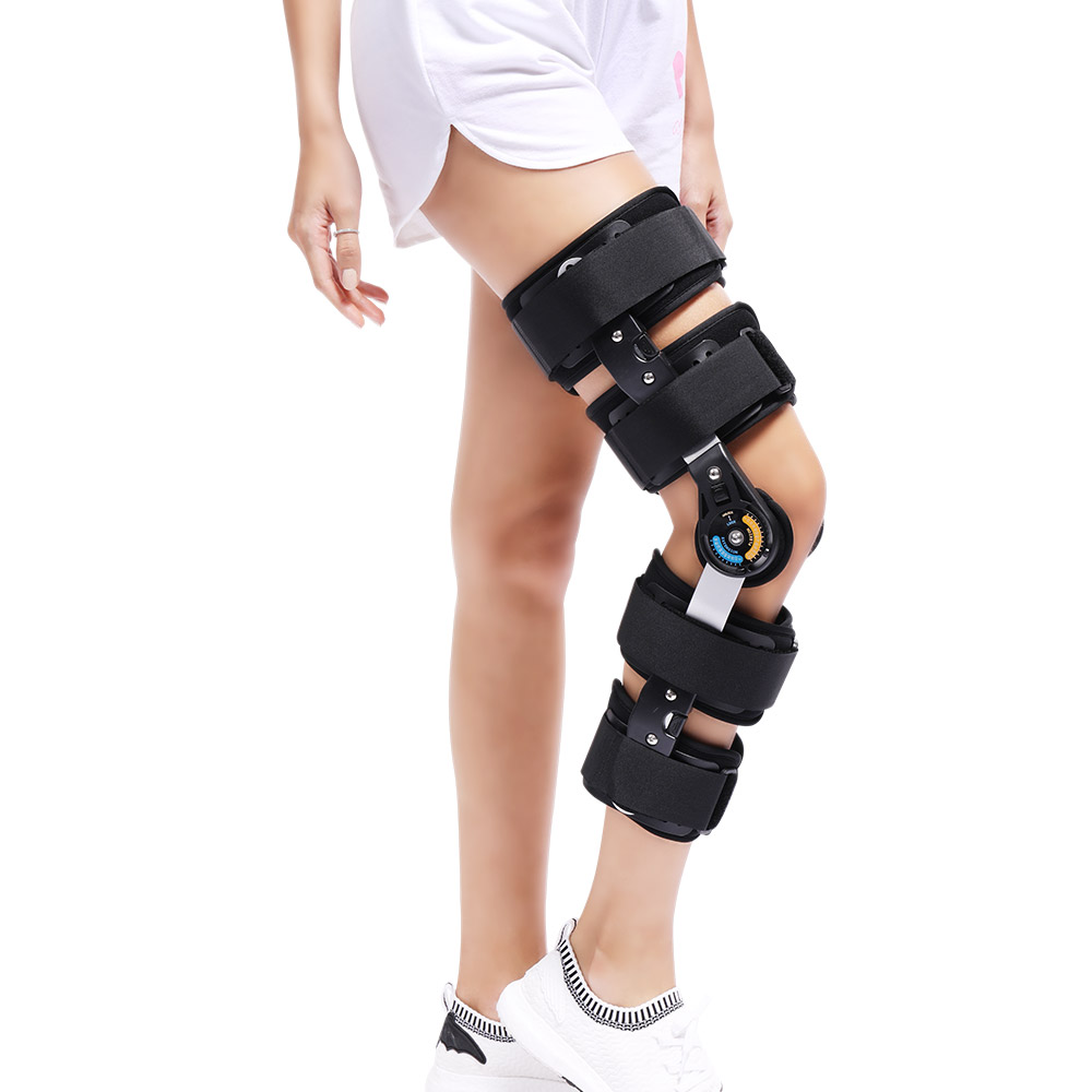 Image 4 - Newest Design ROM Post Op Knee Brace Adjustable Hinged Leg Braces & Supports Universal Size-in Braces & Supports from Beauty & Health