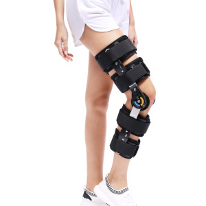 Image 4 - Newest Design ROM Post Op Knee Brace Adjustable Hinged Leg Braces & Supports Universal Size